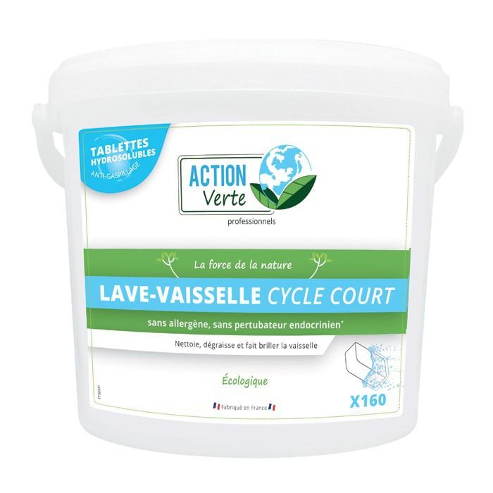 ACTION VERTE TABLETTES LAVE VAISSELLE CYCLE COURT x160