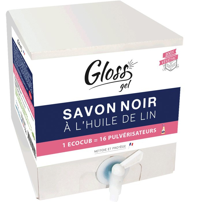 GLOSS ECOCUB SAVON NOIR A L'HUILE DE LIN