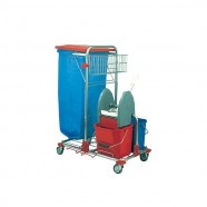 "CHARIOT MENAGE/LAVAGE COMPACT CHROME 2 X 12L ""LEA"""