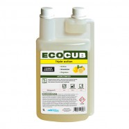 FLACON DOSEUR VIDE CLEANER DURASOLS ECOCUB TRIPLE ACTION CITRON